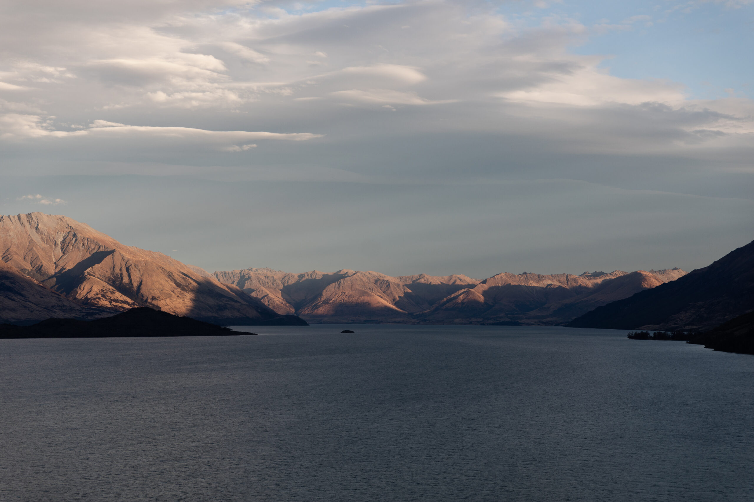 Mount Nicolas and Lake Wakatipu at sunset